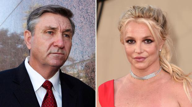Britney Spears's father has been suspended from his role overseeing the pop superstar's estate (AP Photo)