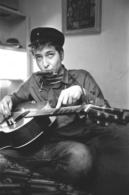 Starting out: Bob Dylan in 1962, the year he released  his first album