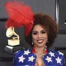 Singer Joy Villa donned another pro-Donald Trump outfit at the Grammys, wearing a gown supporting the president's re-election campaign (Jordan Strauss/Invision/AP)