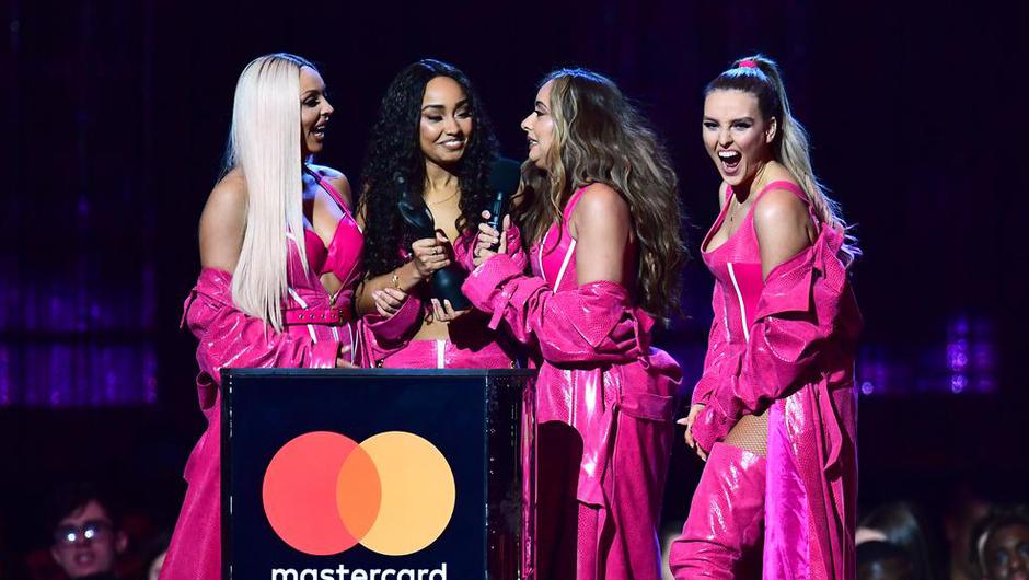 Little Mix accept the award for British Artist Video of the Year at the Brit Awards 2019. Photo by: Victoria Jones/PA