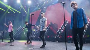 One Direction performing at the Apple Music festival at the Roundhouse in Camden, London