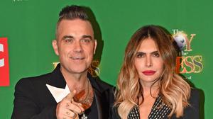 Robbie Williams and Ayda Field (Jacob King/PA)
