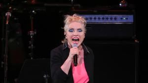 Singer Debbie Harry of Blondie performs at The Music of David Bowie tribute concert in New York (AP)