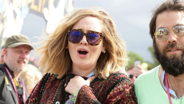 Adele with her husband Simon Konecki