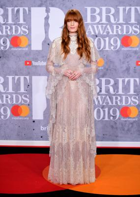 Florence Welch at the Brit Awards in 2019 (Ian West/PA)
