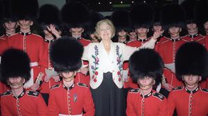 Dame Vera Lynn singing with the troops at a London recording studio (PA)