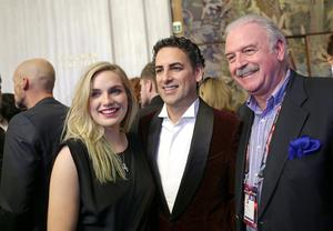 Molly Sterling with tenor Juan Diego Florez and RTÉ's Marty Whelan