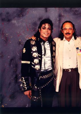 Ron Weisner with his client Michael Jackson