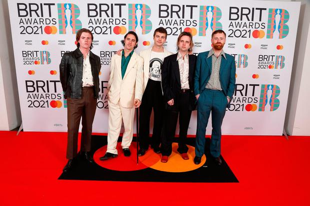 Fontaines D.C. attending the Brit Awards 2021