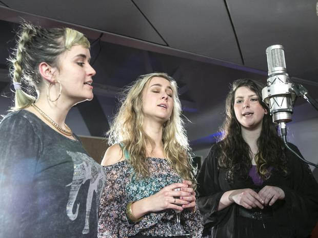 SPEAK SOFTLY: Wyvern Lingo in the studio. Photo: Kyran O'Brien