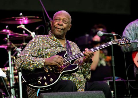 US blues musician BB King who as died in Las Vegas aged 89