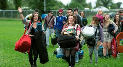 Festival goers arriving at Electric Picnic 2015
