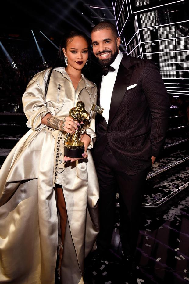 Heart on his sleeve: Drake declared his love for Rihanna at the VMAs