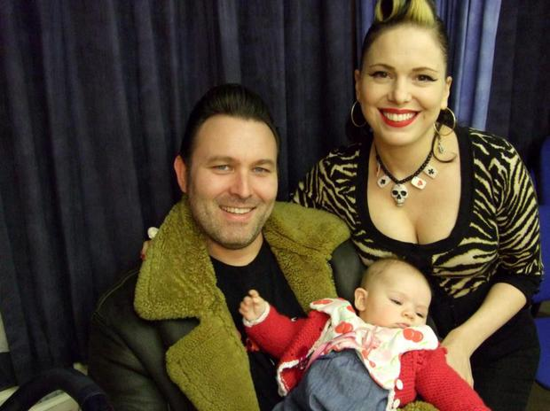 Imelda May with ex-husband Darrel Higham and Violet, who is now four