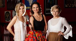 In the spotlight: from left, Donna Taggart, Niamh Lynn and Megan O'Neill. Photo: ©Fran Veale