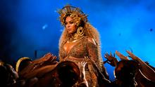 All that glitters is not gold: Beyoncé missed out on the top prize but gave an astonishing performance with her baby bump