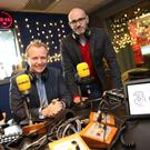 Matt Cooper (left) in the Today FM studio.