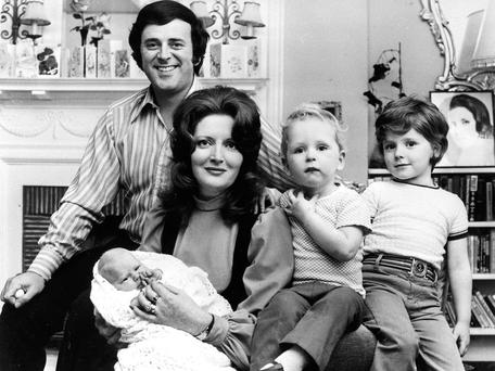 BREEZY: Terry with his family in 1972. Photo: PA