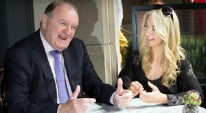 STILL MAKING WAVES: George Hook and Niamh Horan talk knickers, love and about his 47 years of marriage to the 'lovely Ingrid'. Photo: Tony Gavin