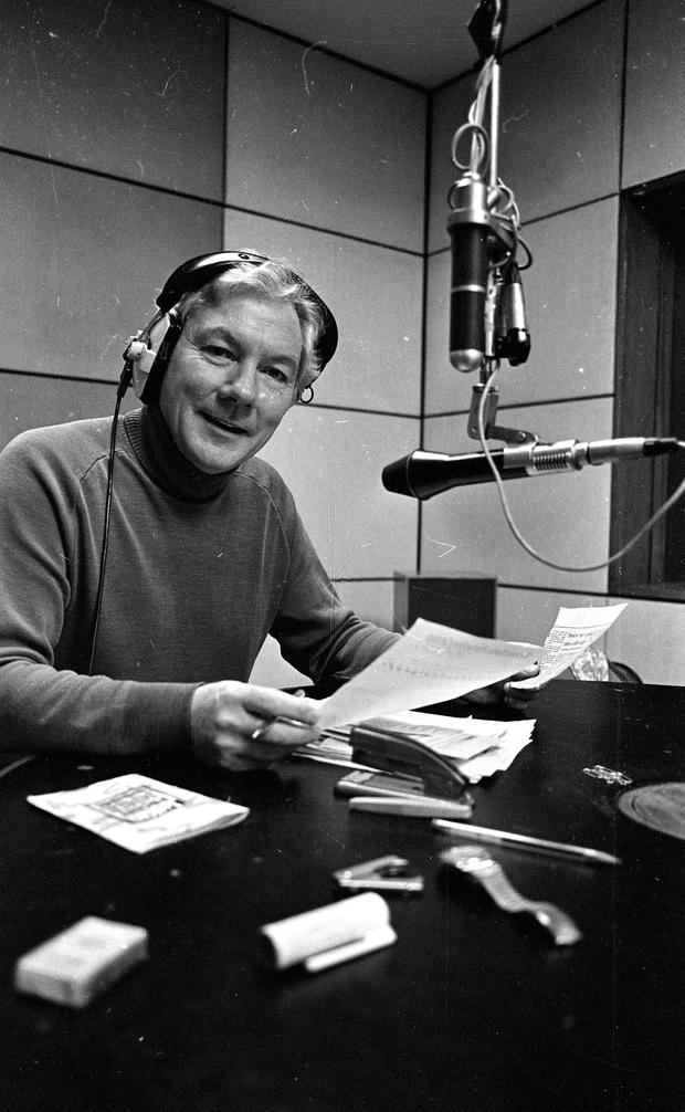 Lifeline: Gay Byrne on the 15th anniversary of his radio show in 1988 (Part of the Independent Newspapers Ireland/NLI Collection)
