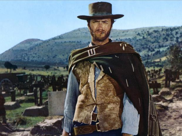 Clint Eastwood în The Good, the Bad and the Ugly