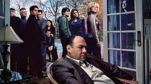 Tony Soprano (the late James Gandolfini) and family in The Sopranos, an everyday tale of a caring family man and killer