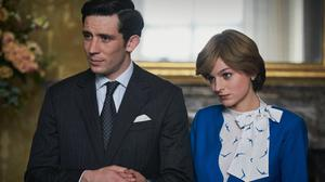 Josh O'Connor as Charles and Emma Corrin as Diana in the soapy fourth season of The Crown, which cleaned up at the Emmys