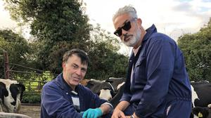 Making a drama: Jimmy Byrne and Baz Ashmawy in Wingman
