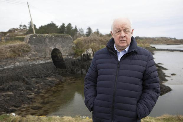 Jim Sheridan on location filming Murder at the Cottage, his series about the death of Sophie Toscan Du Plantier. Photograph by Barbara McCarthy © Sky UK 2021