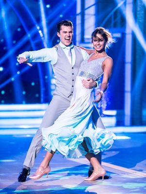 Thalia Heffernan dancing with partner Curtis Pritchard, amid rumours she's dating dancer Ryan McShane, during the Second live show of RTE's Dancing with the Stars. Photo: Kyran O'Brien