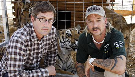 Louis Theroux with Joe Exotic for the documentary maker's 2011 programme Louis Theroux: America's Most Dangerous Pets