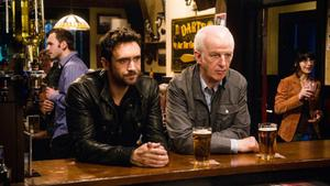 Allan Hawco and Sean McGinley as Jake and Malachy Doyle in Republic of Doyle.