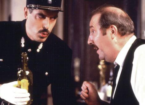 Stale: A scene from 'Allo 'Allo, one of the many reruns on RTE