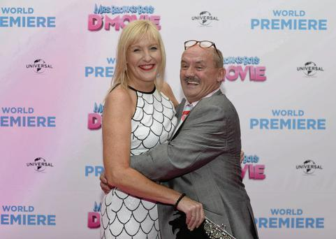 Brendan O'Carroll and his wife Jennifer Gibney attending the world premiere of 'Mrs Brown's Boys D'Movie'