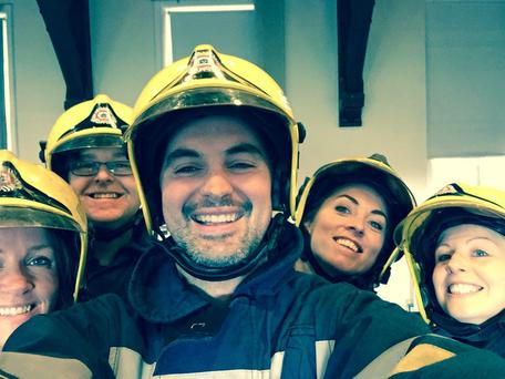 Operation Transformation: Firefighter challenge: From left: Ciara, Eddie, Karl, (front), Kathryn and Aoife