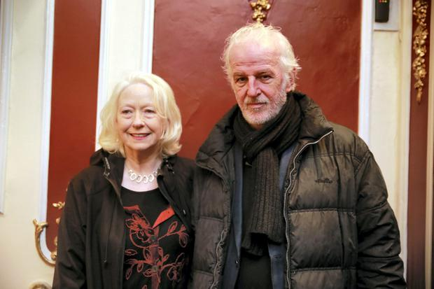 Sean McGinley with his wife Marie Mullen