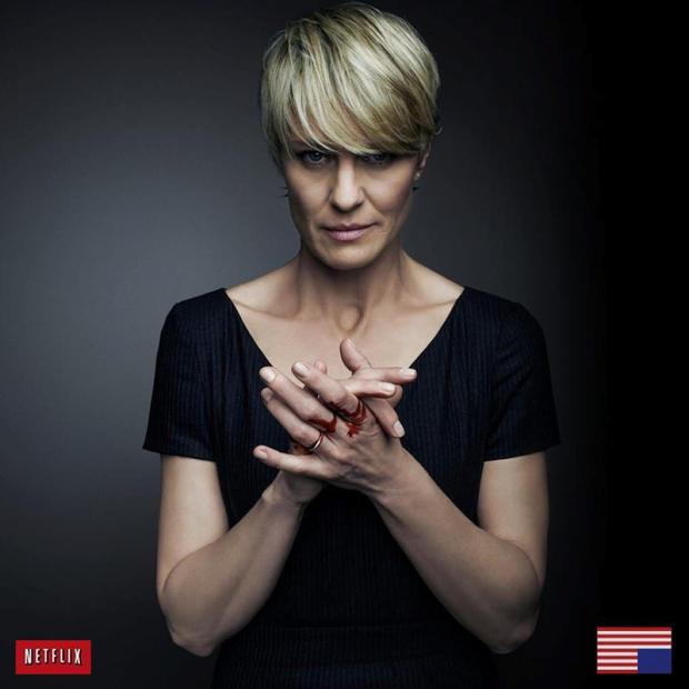 Robin Wright stars as Claire Underwood, the scheming First Lady in Netflix drama, 'House of Cards'