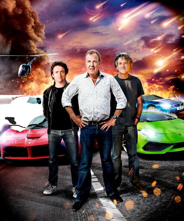 Top Gear presenters Richard Hammond, Jeremy Clarkson and James May