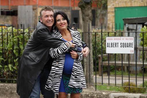 Starting anew: Alfie and Kat are moving across the Irish Sea in a six-part EastEnders spin-o