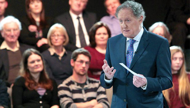 Vincent Browne during a previous episode of 'The People's Debate' on TV3