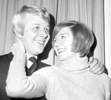 LOVE SONG: Cilla Black with Bobby Willis whom she married in 1969