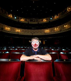 Pat Shortt photographed in The Gaiety. Photo: Kip Carroll
