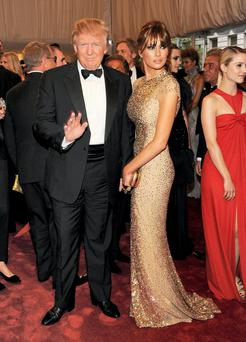 Model behaviour: Donald Trump with his wife, jewellery designer and former model, Melania Knauss. Photo: Getty Images.