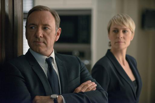 Kevin Spacey and Robin Wright who star in House of Cards.