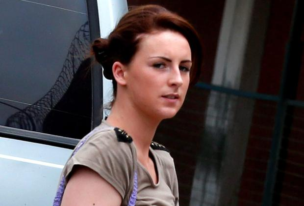 Michaella McCollum arriving at court in Peru in 2013