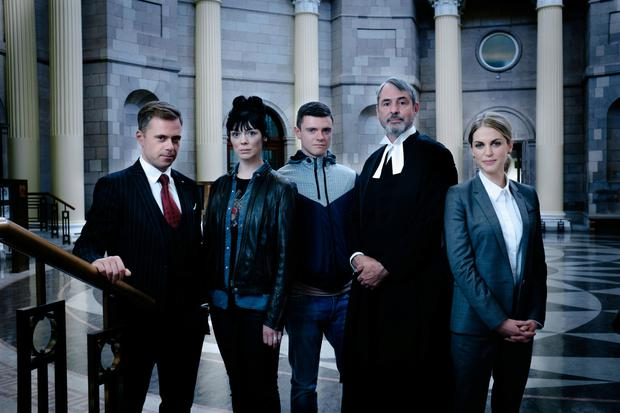 RTE's new legal drama Striking Out, starring Amy Huberman.