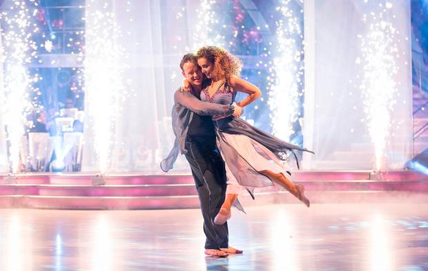 Louise Redknapp and Kevin Clifton during the dress rehearsal for the final of the BBC1 show, Strictly Come Dancing. Photo: Guy Levy/BBC/PA Wire