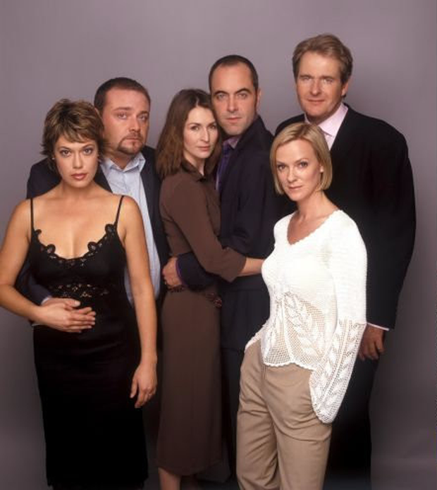 James Nesbitt with the cast of 'Cold Feet' in 2003