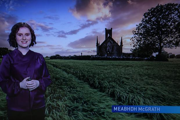 Meadhbh McGrath pictured at the RTE weather studio. Photo: Mark McConville
