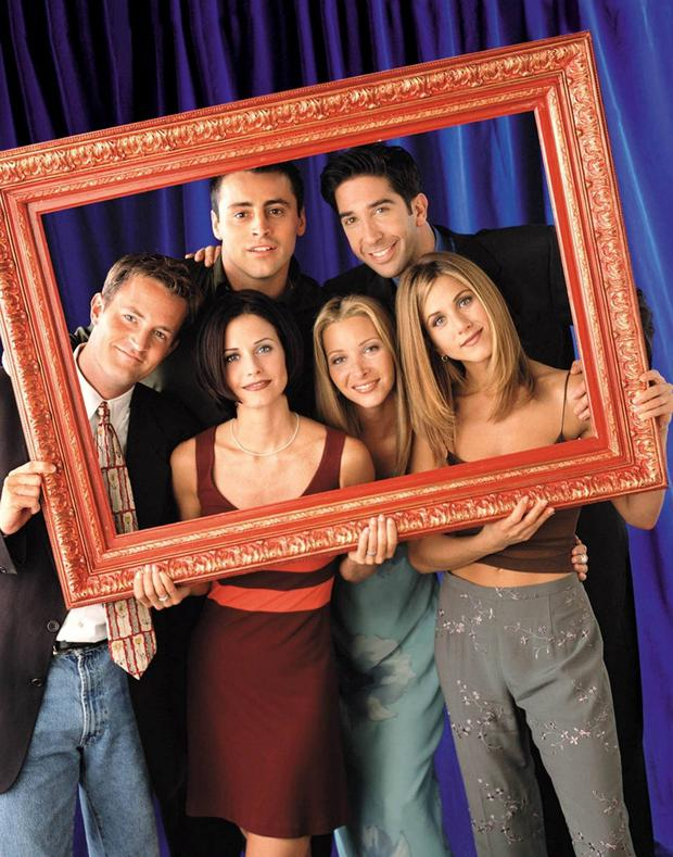 Framework for success: The fresh-faced Friends cast back in the 1990s